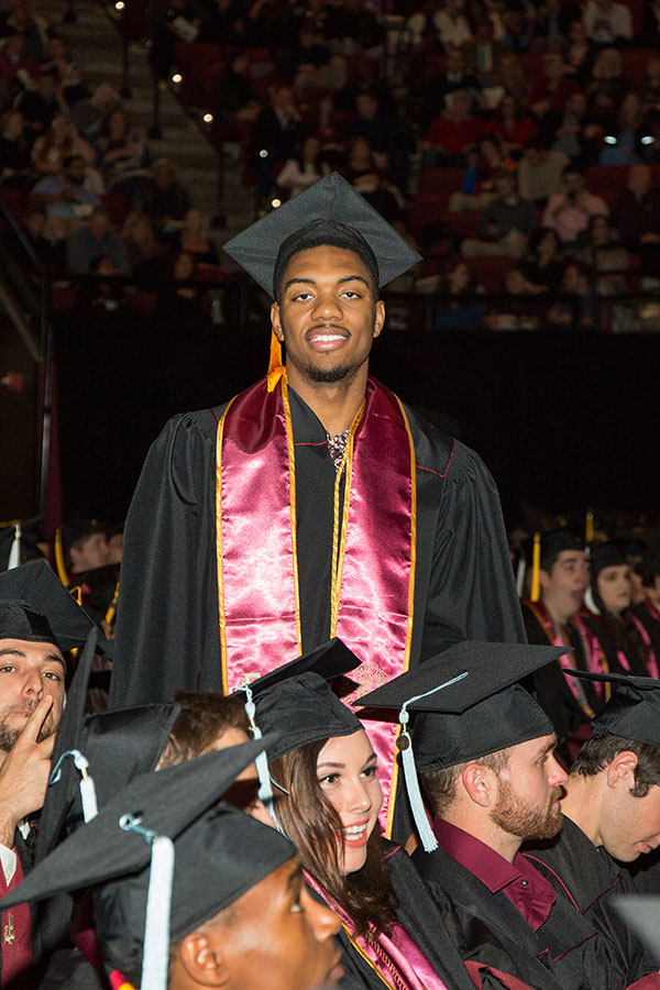 FSU men's basketball player Trent Forrest graduated during the commencement ceremony Friday, Dec. 13, 2019. (FSU Photography Services/Bill Lax)