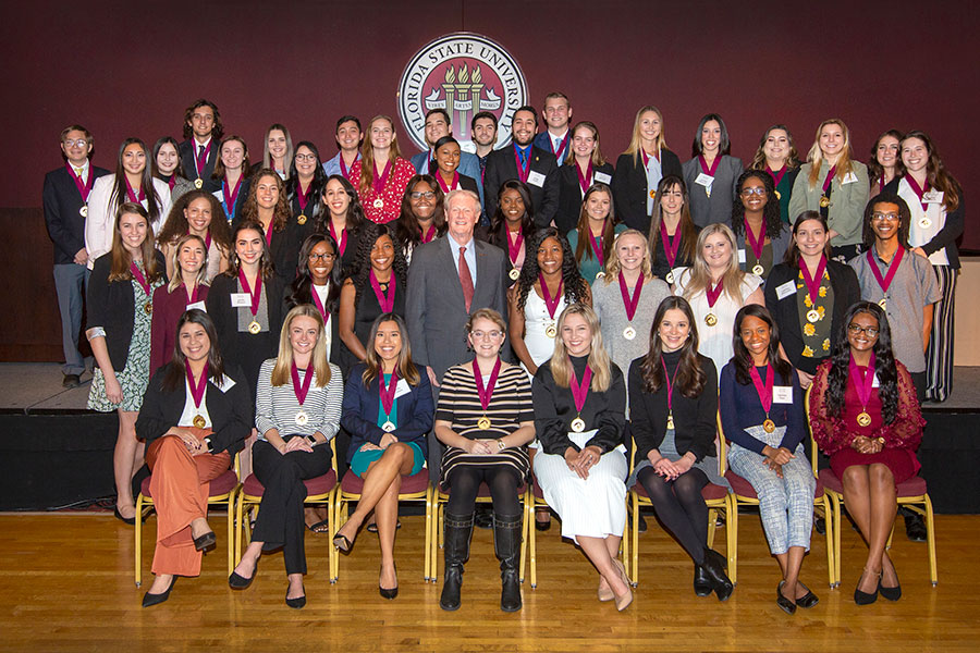 58 students were inducted into Florida State University's prestigious Garnet & Gold Scholar Society this past Wednesday, Dec. 4. (FSU Photography Services/Bruce Palmer)