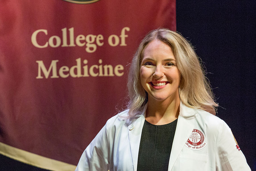 Katharyn Lindborg, who graduated from the IMS program in May 2018 with the first cohort of graduates, is now a first-year medical student at the FSU College of Medicine. (FSU Photography Services)