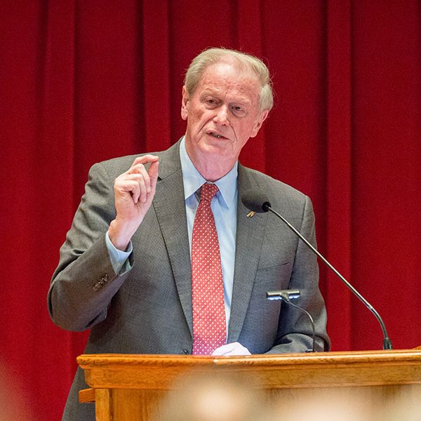 President John Thrasher delivers his fifth State of the University address. (FSU Photography Services)