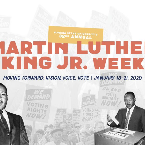 Florida State University will honor the legacy of the late Martin Luther King Jr. during its 32nd Annual MLK Week from Monday, Jan. 13, through Tuesday, Jan. 21. (Sarah Notley)