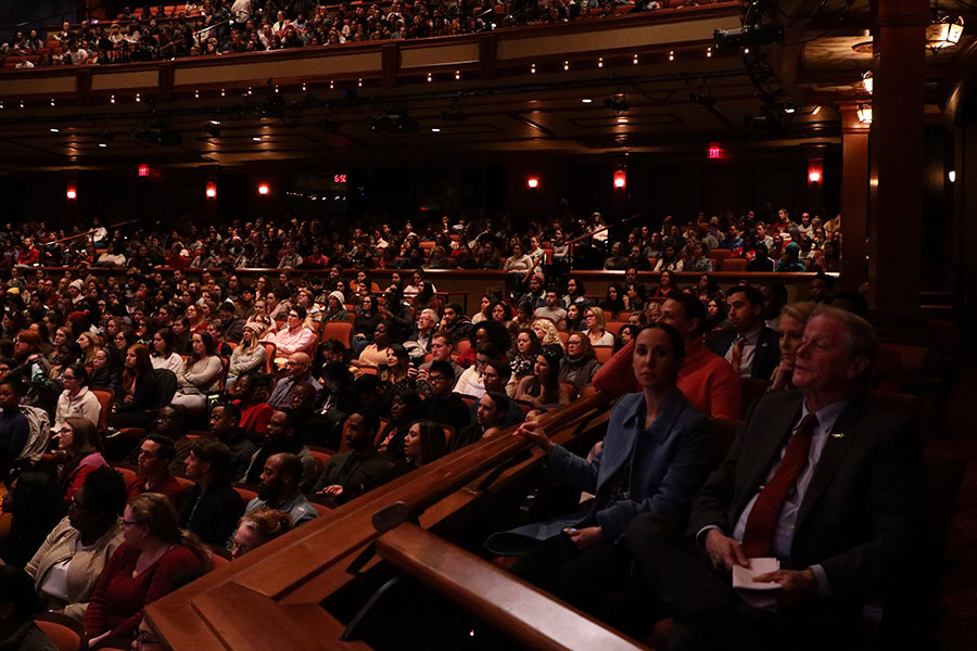 Ruby Diamond Concert Hall was filled to capacity for the 32nd Annual MLK Commemoration Celebration. (Mia Weinand)