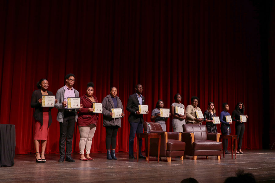 Recipients of the 2020 Dr. Martin Luther King Jr. Book Stipend awards. (Mia Weinand)