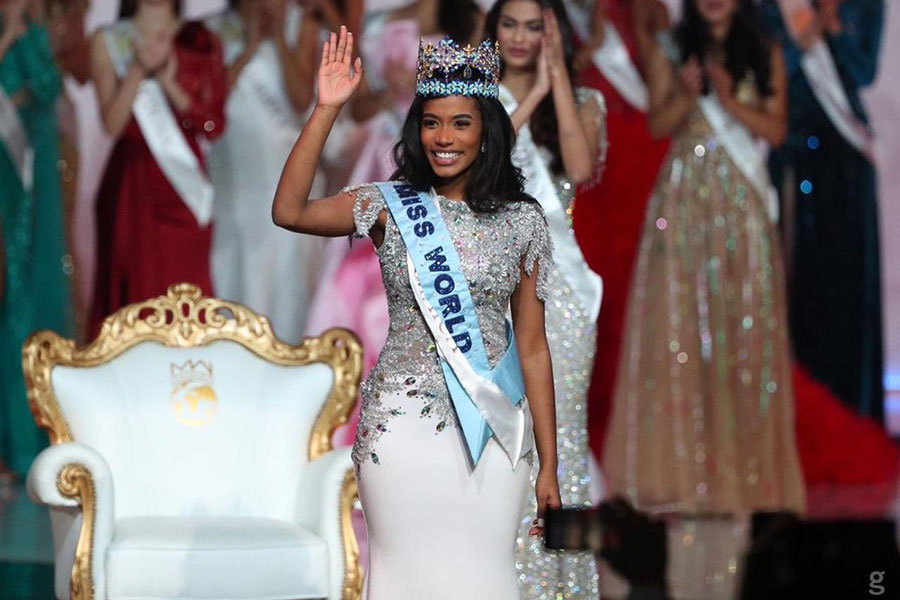 Toni-Ann Singh, who won the Miss Jamaica pageant last summer, was crowned Miss World on Dec. 14, 2019, in London. (Credit: Miss World)