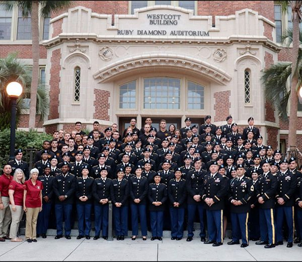 The members of FSU's ROTC program.