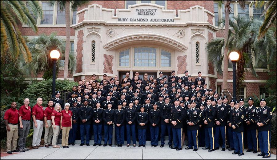 The members of FSU's ROTC program.