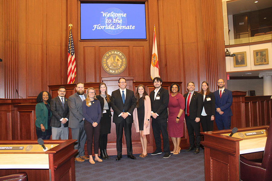 MAAPP students with Florida Senate President Bill Galvano (center) during FSU's MAAPP @ the Cap.