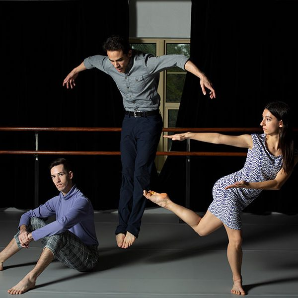 From left to right: Trent Montgomery, Francisco Graciano and Holly Stone. (FSU School of Dance)