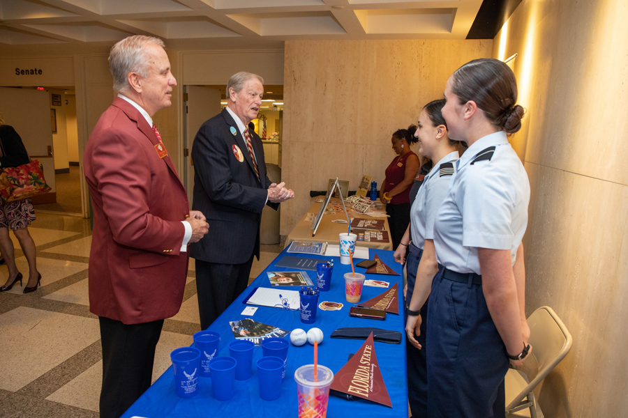 FSU President John Thrasher with Students at FSU Day at the Capitol 2020 (FSU Photography Services)