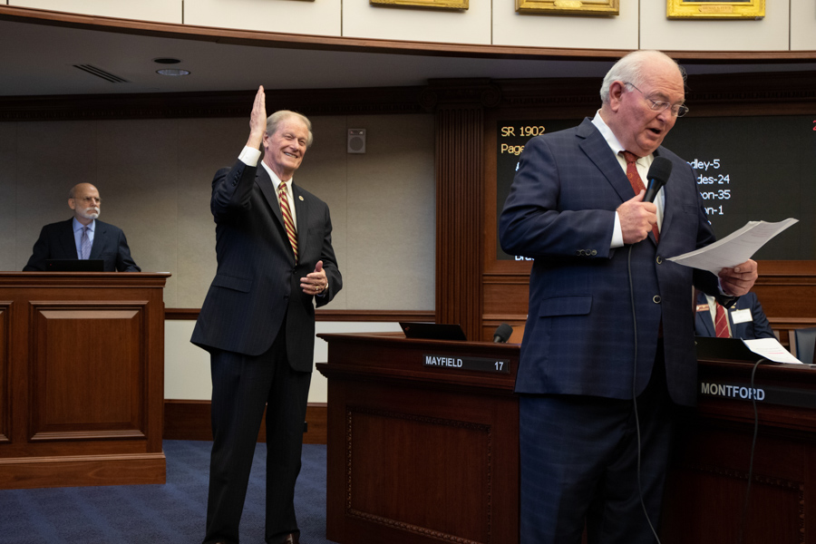 President John Thrasher and Senator Bill Montford. (FSU Photography Services)