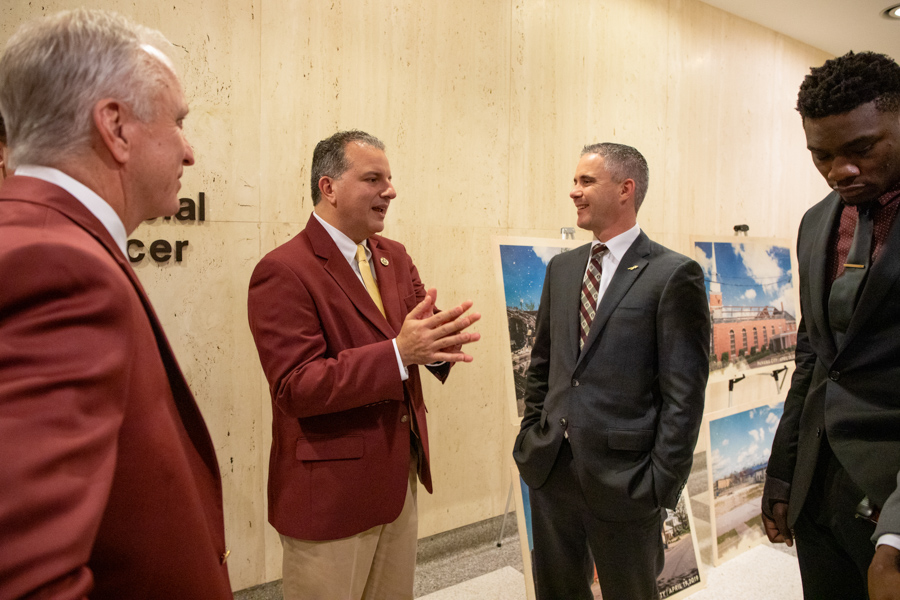 CFO Jimmy Patronis and FSU Football Head Coach Mike Norvell (FSU Photography Services)