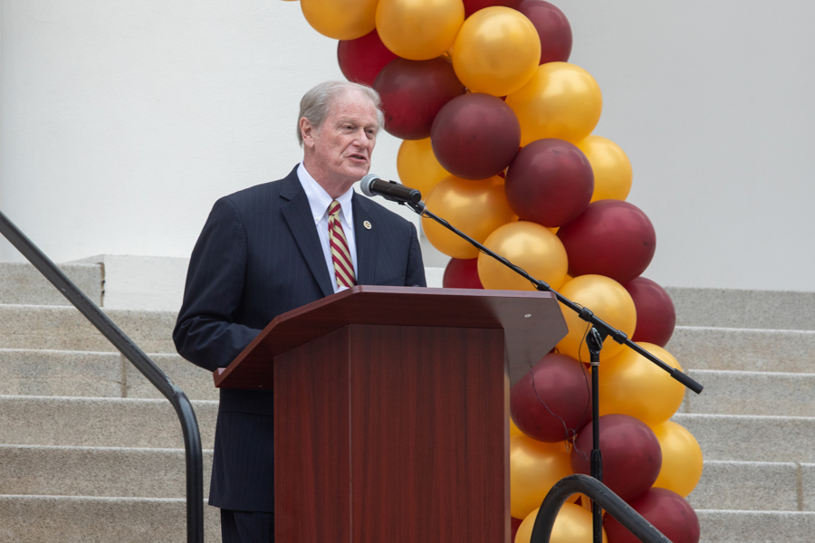 President Thrasher speaks at FSU Day at the Capitol 2020 (FSU Photography Services)