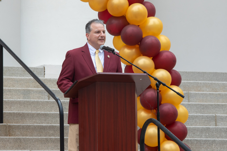 State Chief Financial Officer Jimmy Patronis speaks at FSU Day at the Capitol 2020 (FSU Photography Services)
