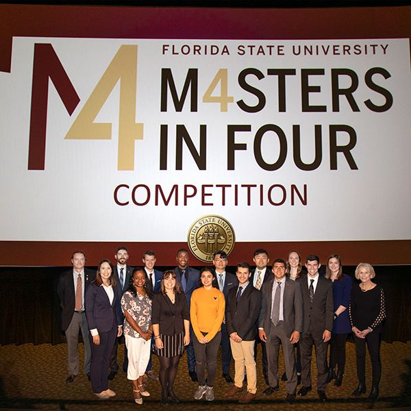 14 students competed in the 2020 Master's in Four competition, Tuesday, Feb. 26. (FSU Photography Services/Bruce Palmer)