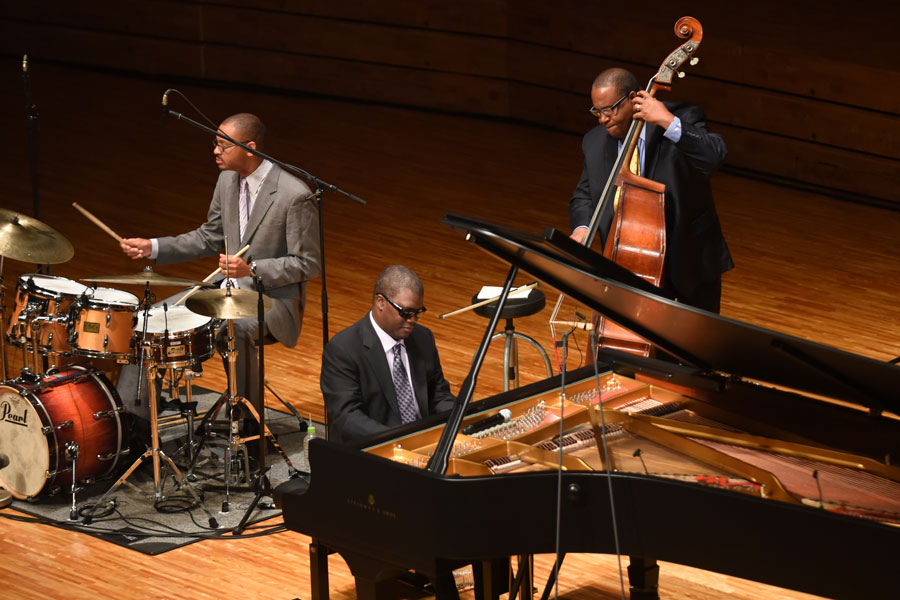 Marcus Roberts Trio which includes Marcus Roberts, Rodney Jordan and Jason Marsalis