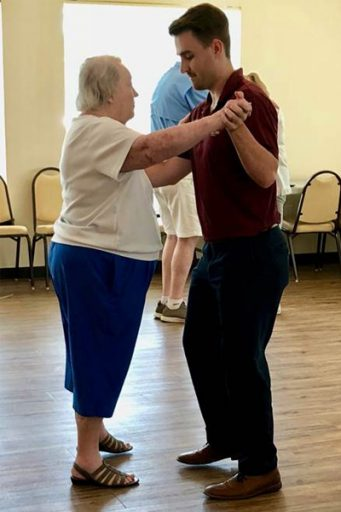 FSU medical student Beau Billings dances Argentine tango with a study participant.
