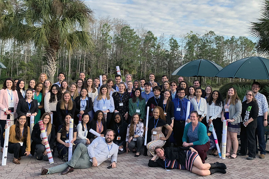 Fifty-five FSU students presented at this year's Florida Undergraduate Research Conference. Six students gave oral presentations.