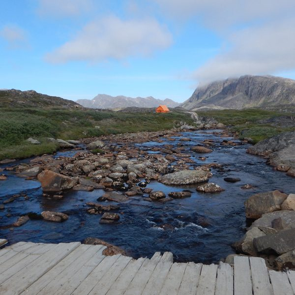 A view of a testing site in the Sisimiut area of Greenland during the summer. Photo by: Jonathan Martin / University of Florida