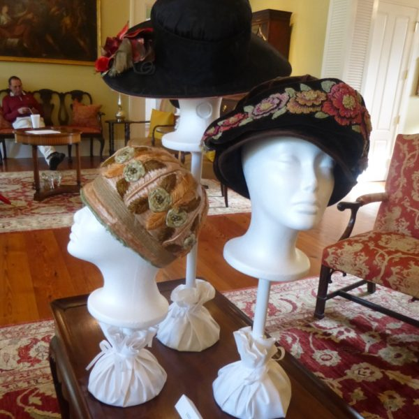 Hats through the 1920s were smaller than their predecessors. Flowers were popular as hat makers moved on from using feathers to adorn hats. During this timeframe we were moving away from feathers, in part because millions of birds were killed for their feathers. In response to this, a group of women formed the Audubon Society which has grown into a global force for conservation.