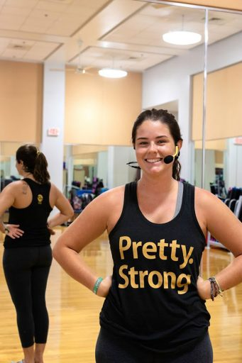 Cassidy Haglund, a group fitness instructor, for FSU Campus Recreation.