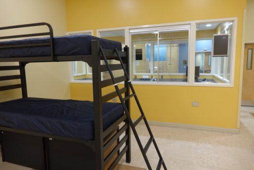 Bunk beds inside the Kearney Center. Photo courtesy of Jill Pable