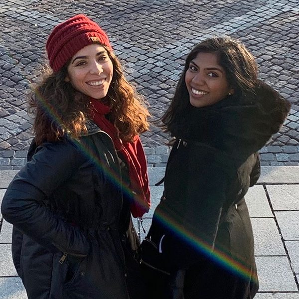 FSU second-year College of Medicine students Gabby Cintron and Vinita Akula.