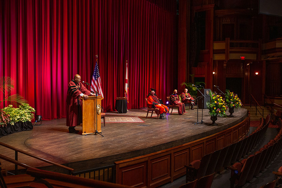 Florida State University holds its virtual summer commencement ceremony, which was streamed online Friday, July 31, 2020. (FSU Photography Services)