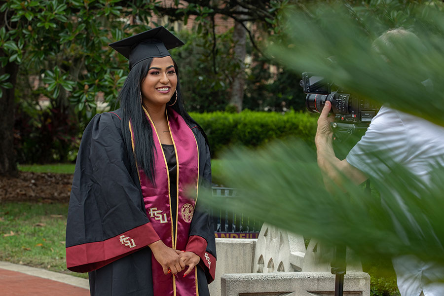 Esmerlda Barrios graduated with her bachelor's degree in criminology.