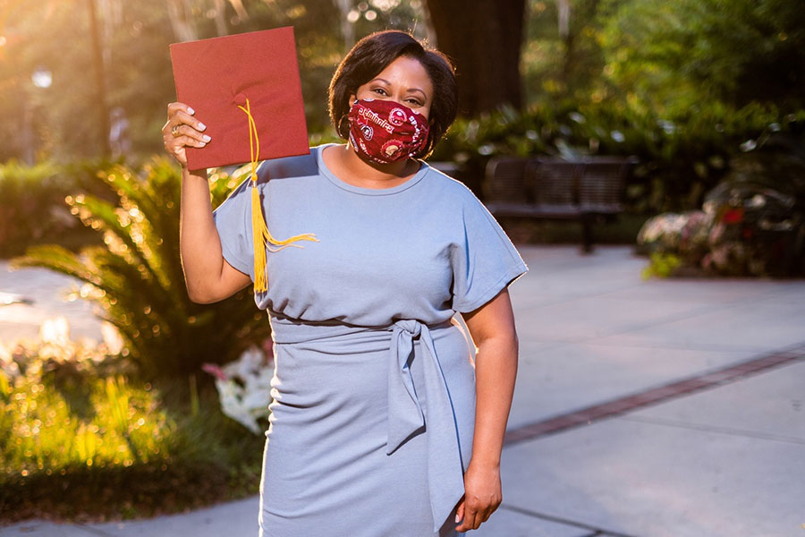 Carlecia Collins earned her second FSU degree after completing the Master of Applied American Politics and Policy program.