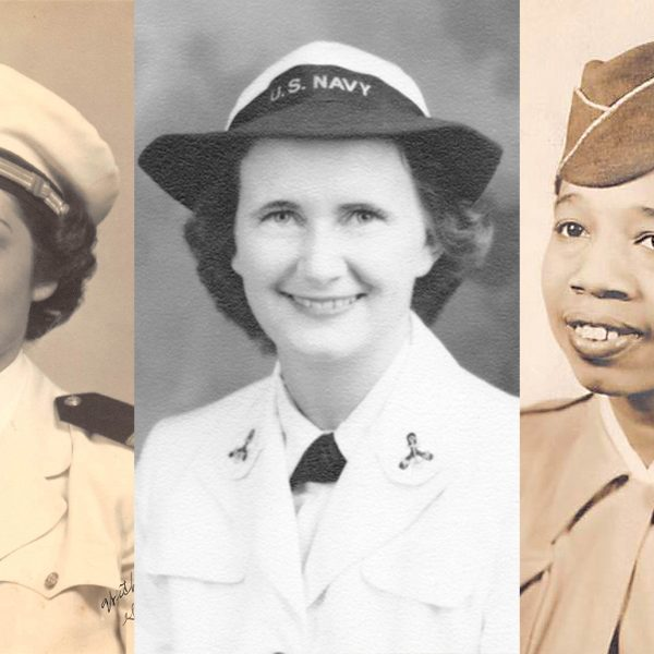 """From left, Maxine Newlander, Calista Bliler and Willie Mae Williams, who all served in the military during World War II. They are among the women whose stories are featured in the online exhibit """"Women at War: At Home and Service in World War II."""""""