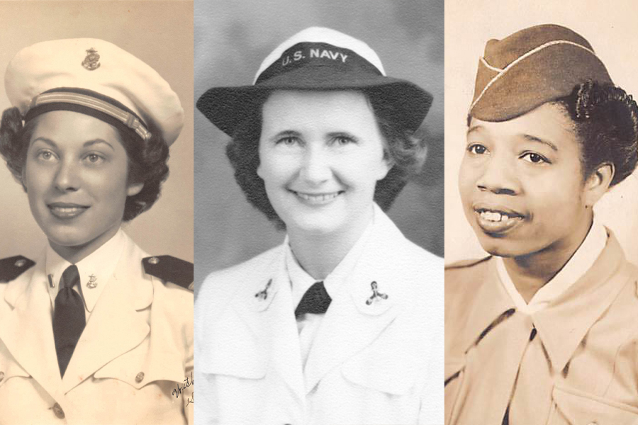 "From left, Maxine Newlander, Calista Bliler and Willie Mae Williams, who all served in the military during World War II. They are among the women whose stories are featured in the online exhibit ""Women at War: At Home and Service in World War II."""