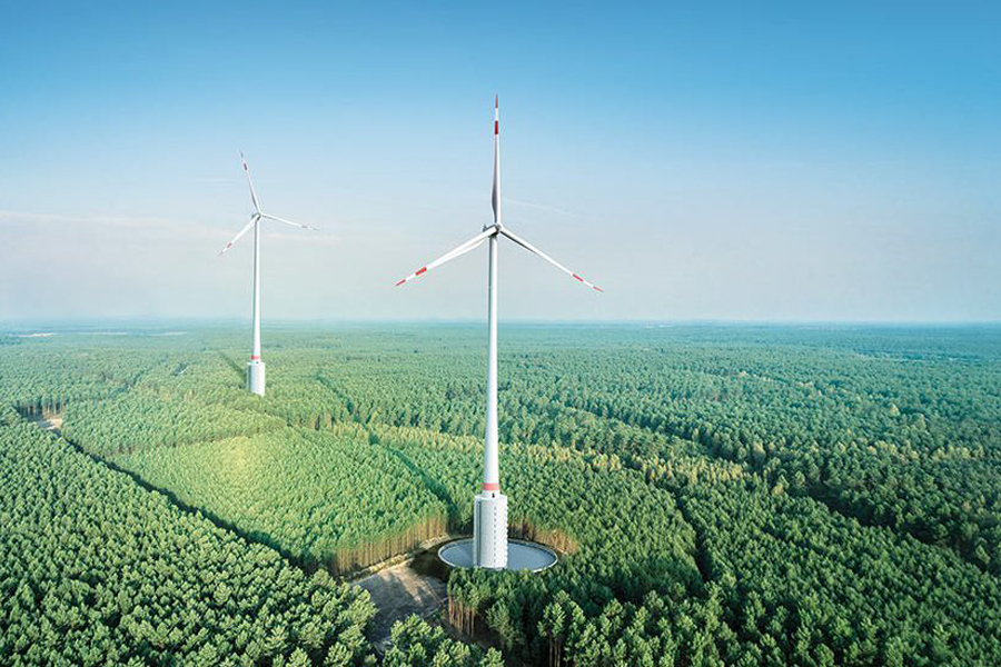 An example of a tall wind turbine, like the ones that emerging technologies might make economically viable in Florida and other parts of the Southeast. Courtesy of Electrek.