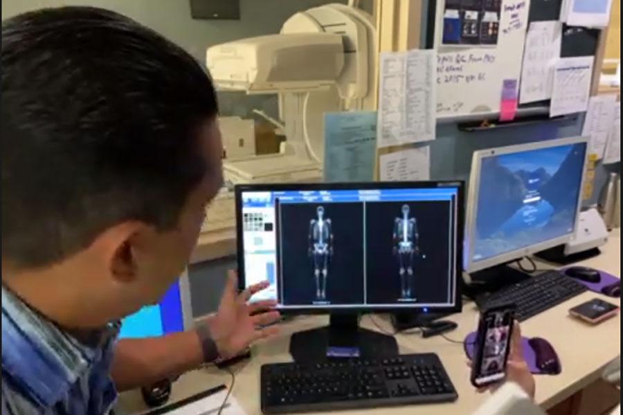 Dr. Willie Nunez, an interventional radiologist, givs a presentation on nuclear medicine at Panama City's Gulf Coast Regional Medical Center.
