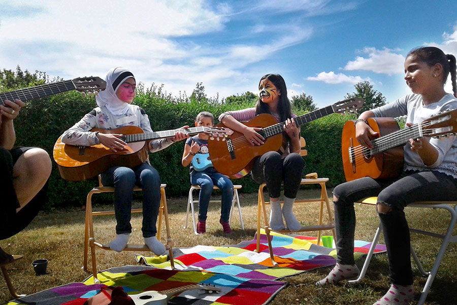 FSU doctoral student Carrie Danielson studied how children, in particular refugee children from Syria and Afghanistan, make and experience music at kulturskolor, which are Swedish culture schools. (Carrie Danielson)