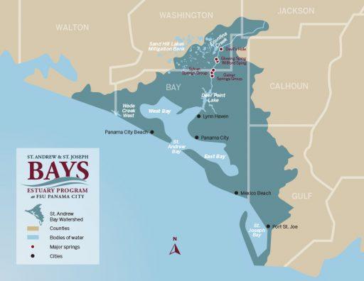 St. Andrew & St. Joseph Bays Estuary Map