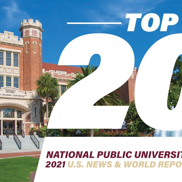 Top 20 National Public Universities 2021 U.S. News & World Report