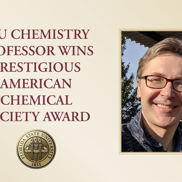 Igor Alabugin, a professor at FSU's Department of Chemistry and Biochemistry in the College of Arts and Sciences, received the American Chemical Society's 2021 Arthur C. Cope Scholar Award.