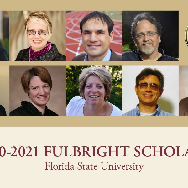 Florida State congratulates Woody Kim, Patricia Villeneuve, Antonio Terracciano, David Johnson, Jessica Wendorf Muhamad, Lori Gooding, Marcia A. Mardis, Kurtis Johnson and Chris Hinnant for earning U.S. Fulbright Scholar awards for the 2020-2021 school year.
