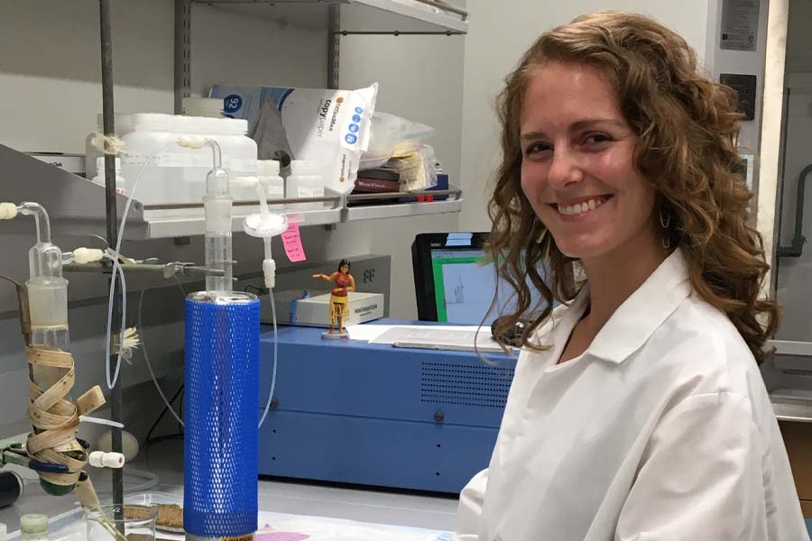 Samantha Howe, a graduate student in Department of Earth, Ocean and Atmospheric Science, who led research into nutrient levels in the Gulf of Mexico.