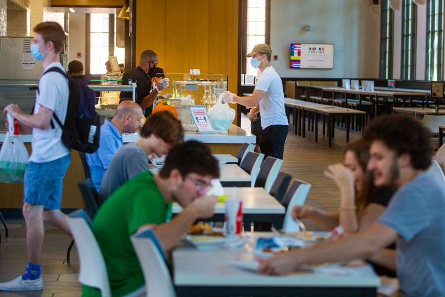 Students dining in Suwannee Room