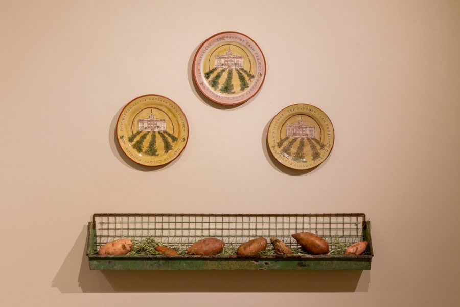 Commemorative Plates with Chicken Feeder