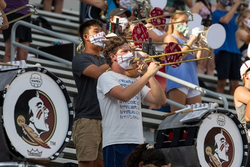 FSU Marching Chiefs practice at the Doak Campbell Stadium. (FSU Photography Services)