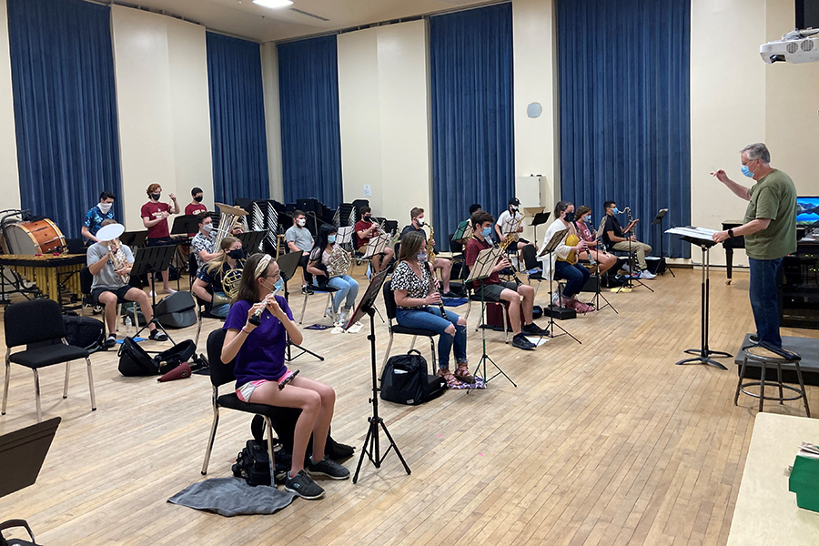College of Music students attend Wind Ensemble Rehearsal