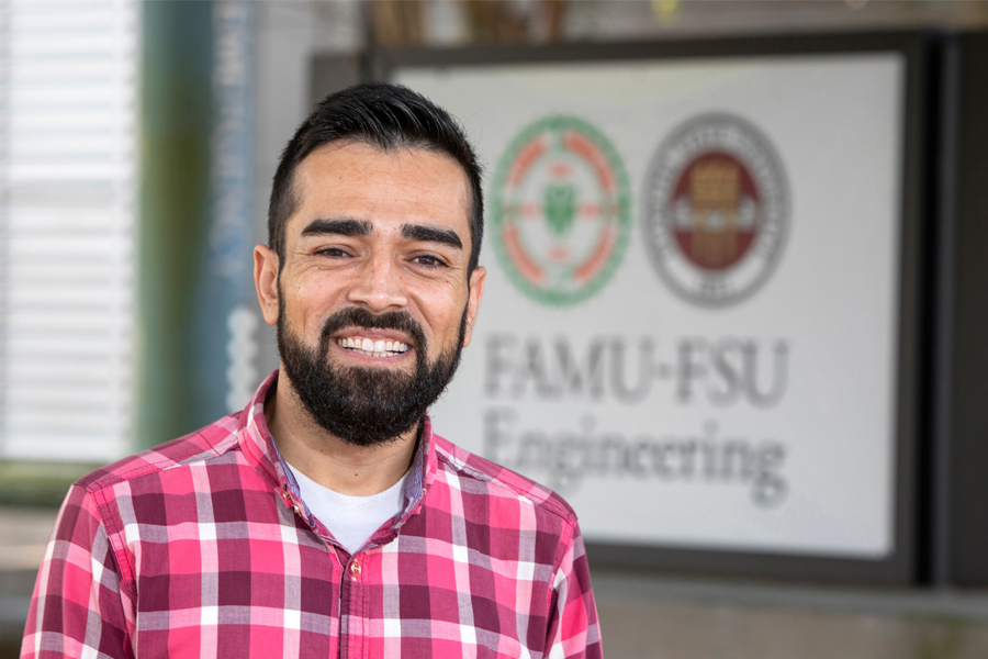 Yashar Makhtoumi, a research assistant with Professor Gang Chen and a doctoral candidate in the Department of Civil and Environmental Engineering at the FAMU-FSU College of Engineering. (Mark Wallheiser/FAMU-FSU College of Engineering)