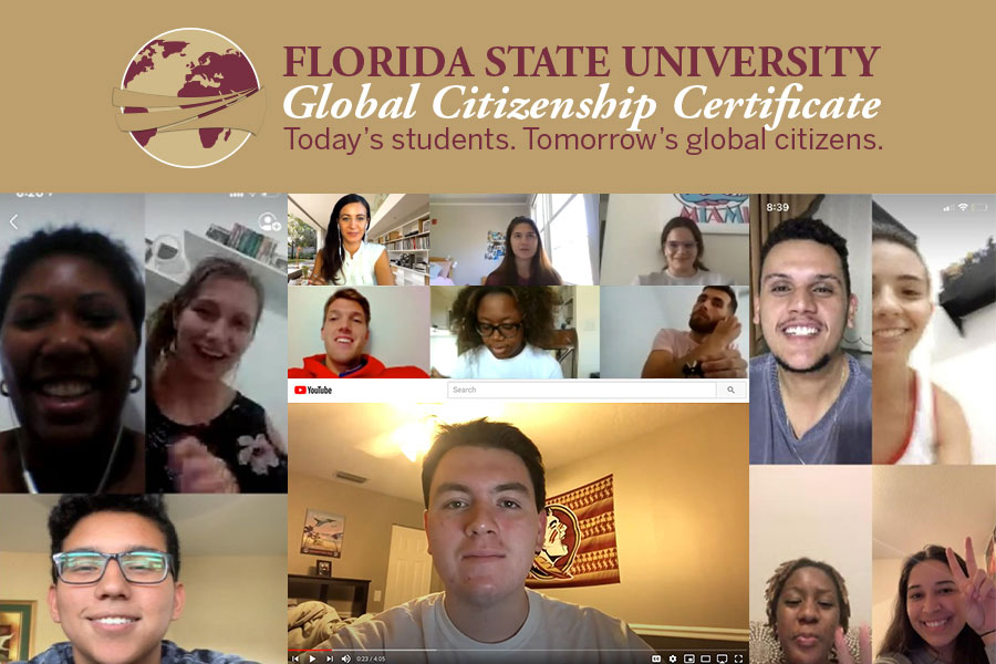 By expanding its Collaborative Online International Learning (COIL) partnership, FSU was able to double the number of students enrolled in the Global Citizenship Certificate (GCC). (Center for Global Engagement)