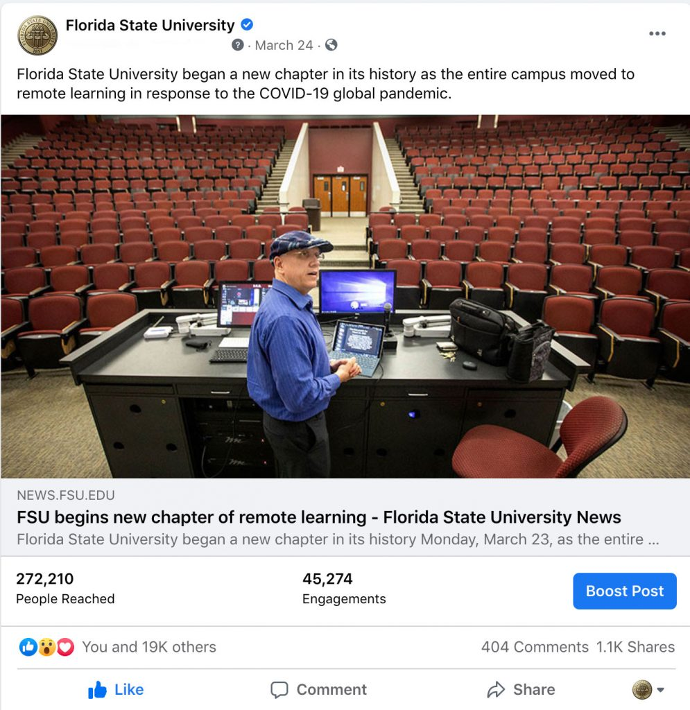FSU begins new chapter of remote learning