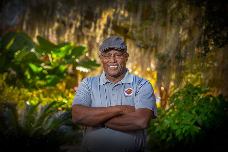 Willie Wiggins, the assistant director for Waste Management, has been a key player in the success of FSU's recycling program, which was recently honored with a Recycling Champion Award. (FSU Photography Services/Bruce Palmer)