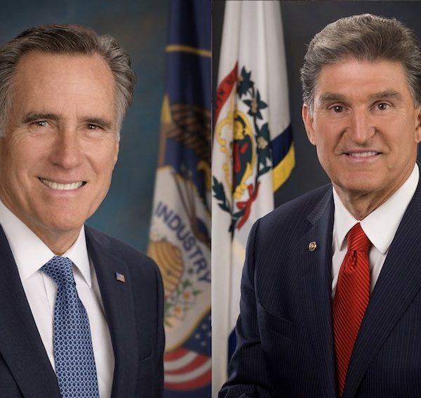 U.S. Senators Mitt Romney and Joe Manchin are set to be the first speakers at the Institute of Politics' inaugural speaker series.