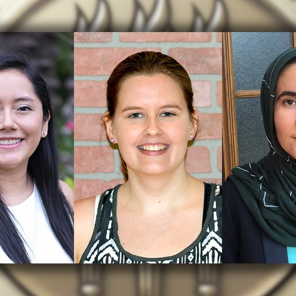 (From left to right) Natali Ramirez-Bullon, Alexandra Hooks and Sohaila Isaqzai all received fellowships from the American Association of University Women (AAUW).