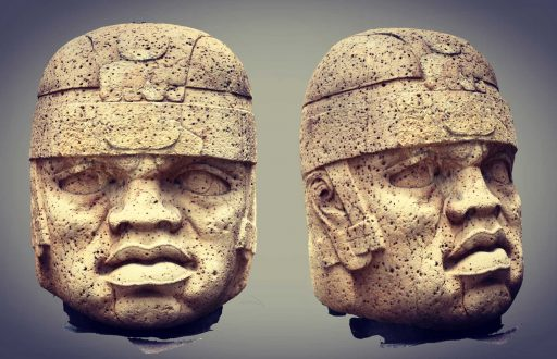 San Lorenzo Monument 1. Early Formative Period basalt sculpture from the site of San Lorenzo Tenochtitlán, Veracruz, Mexico. Photogrammetric image produced by Michael D. Carrasco and Joshua D. Englehardt.